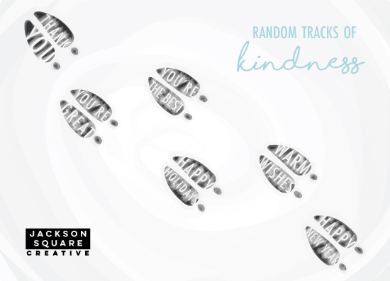 non-photo holiday cards - Random Tracks of Kindness by Kaylie Beebe