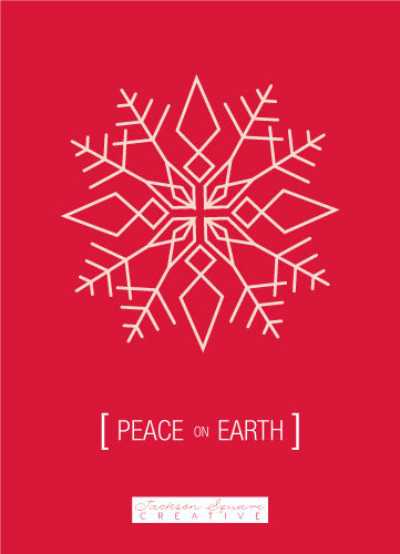 non-photo holiday cards - [peace] on earth by Alex Selsor