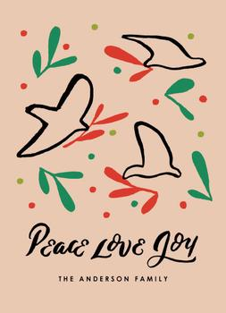 Peace Love & Joy Birds
