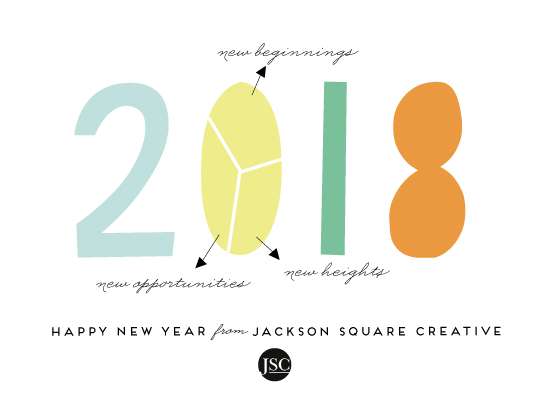 non-photo holiday cards - New year plan by Anupama
