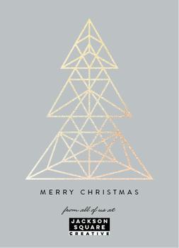 foil geometric christmas tree