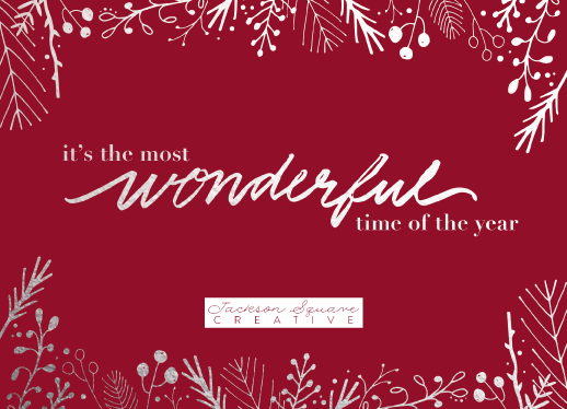 non-photo holiday cards - Handwritten Wonderful in Red by Cassandra Yzaguirre