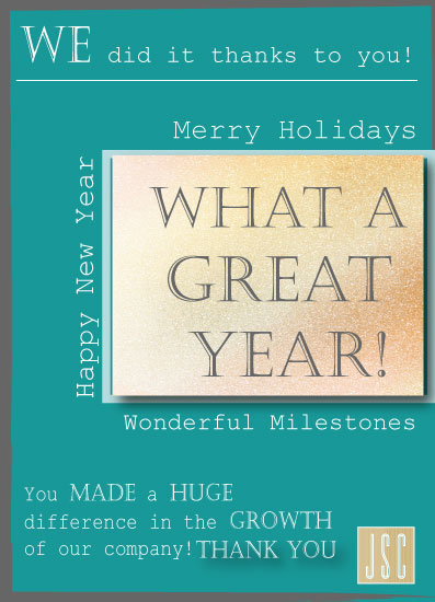 non-photo holiday cards - Great Year by Joyfuldesignsklmr