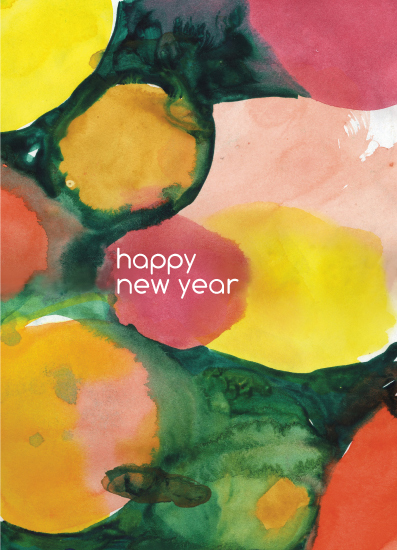 non-photo holiday cards - Playful New Year's by Rachel Leising Soo