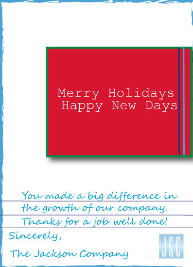 non-photo holiday cards - Holiday Note by Joyfuldesignsklmr