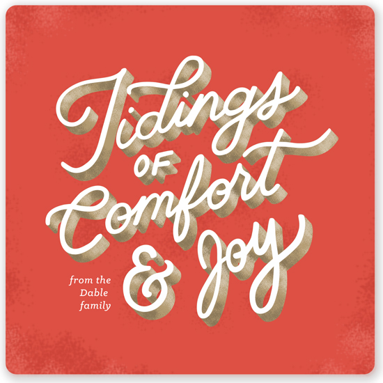 non-photo holiday cards - Comfort & Joy by Naomi Scheel