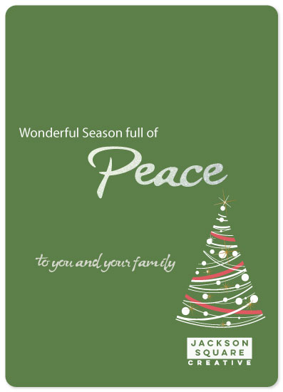 non-photo holiday cards - Peace Tree by Joyfuldesignsklmr
