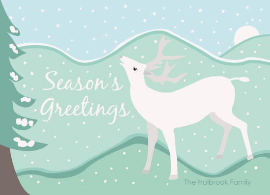 non-photo holiday cards - First Snow of the Season by Jennifer Holbrook
