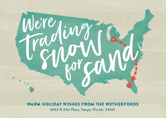 non-photo holiday cards - Snow and Sand by Ann Gardner