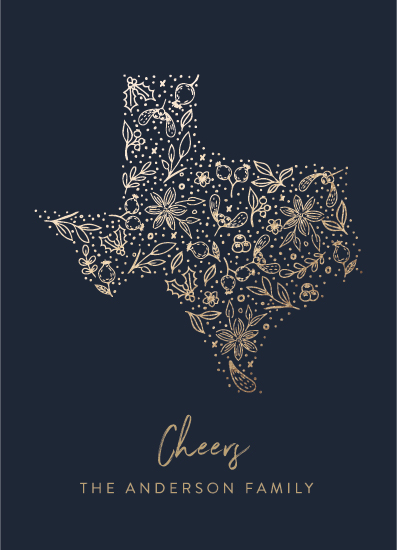 non-photo holiday cards - Texas gold by My Splendid Summer