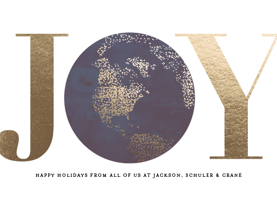 non-photo holiday cards - pointilism joy by Frooted Design