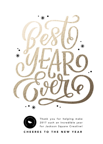 non-photo holiday cards - Best Year Ever by Kristen Smith