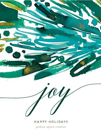 non-photo holiday cards - Joy Stack by Simona Camp