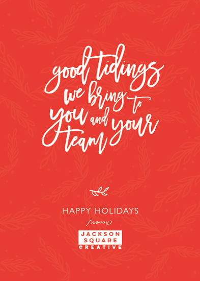 non-photo holiday cards - Good Team Tidings by Korry Brown