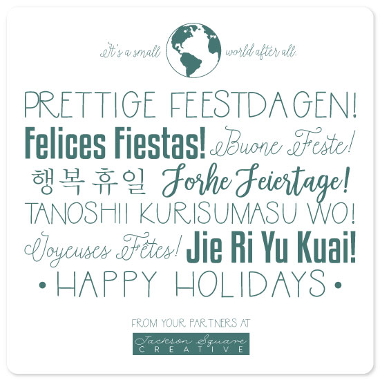 non-photo holiday cards - Happy Holidays From Around The World by Amy Lee Creel