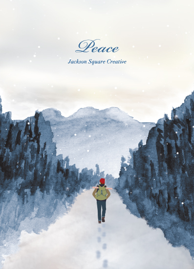 non-photo holiday cards - Peace of Quiet by Shannon