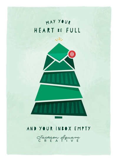 non-photo holiday cards - Inbox Empty by Kelsey Mucci