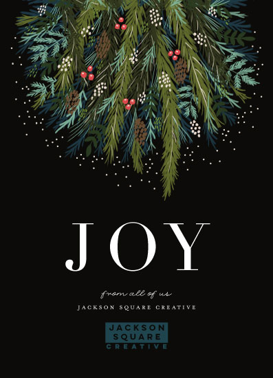 non-photo holiday cards - Joy to all of us by iamtanya