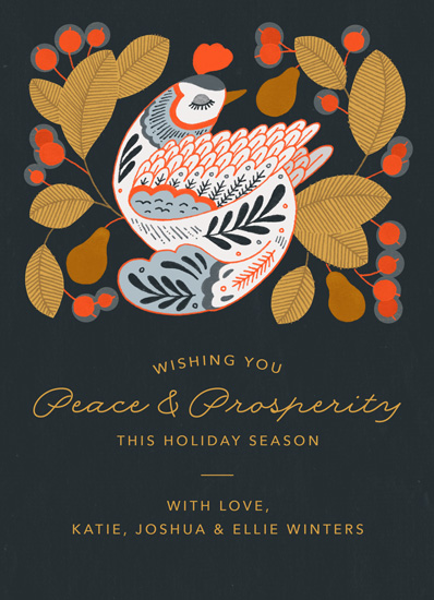 non-photo holiday cards - Partridge in a Pear Tree by Paper Raven Co.