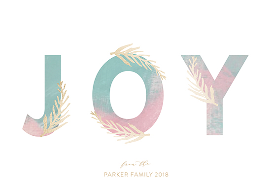 non-photo holiday cards - Sunset Joy by Hallie Fischer