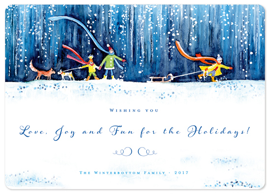 non-photo holiday cards - A Holiday Stroll 1 by Eva Marion