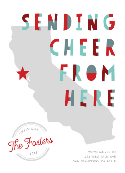 non-photo holiday cards - Cheers from Here by Pixel and Hank