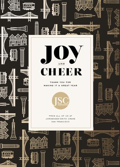 non-photo holiday cards - Joy & Cheer from San Francisco by fatfatin