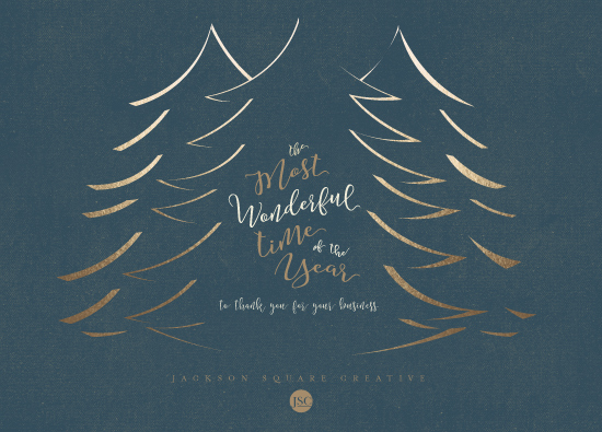 non-photo holiday cards - The Most Wonderful Time by Elky Ink
