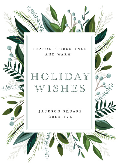 non-photo holiday cards - Warmest Holiday Wishes by Susan Moyal