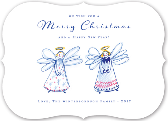 non-photo holiday cards - Angel Duo by Eva Marion