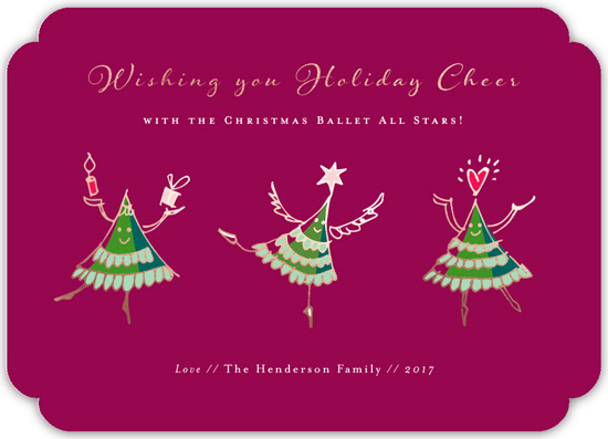 non-photo holiday cards - Christmas Ballet All Stars by Eva Marion