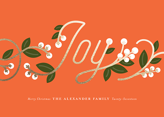 non-photo holiday cards - Joy Berries by Genna Cowsert