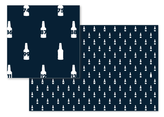 fabric - 99 Bottles of Beer by Anna Hirsch