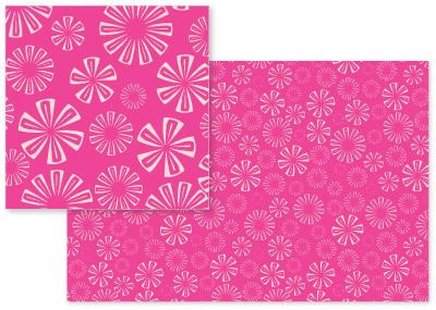 fabric - Fuchsia Vivid Pink Florals by Piia Põdersalu