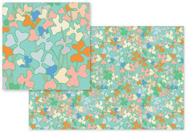 fabric - Multicolored Florals II by Piia Põdersalu
