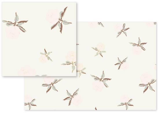 fabric - Pastel Delicate Flowery Print by Piia Põdersalu