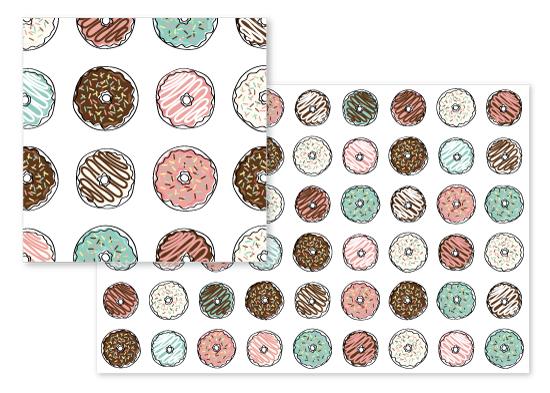 fabric - Sweet Donuts by Katarina Berg