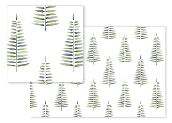 fabric - Forest Fern by Katarina Berg