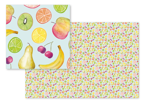fabric - Fruit Salad by Gabrielle Cave
