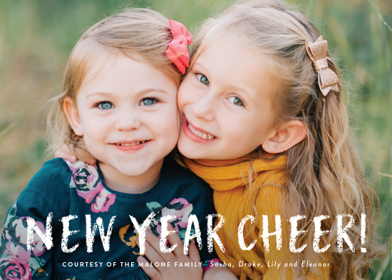 new year's cards - new year cheer! by Sara Hicks Malone