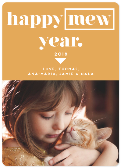 new year's cards - Happy Mew Year by Emma Marson