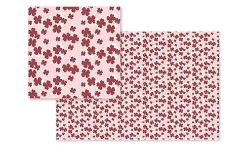fabric - Dusty Rose Clovers by Jordan Dobrowski