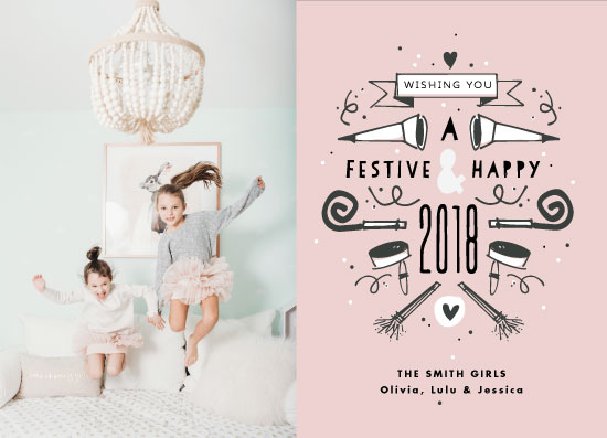 new year's cards - Festive & Happy 2018 by Rae Kaiser