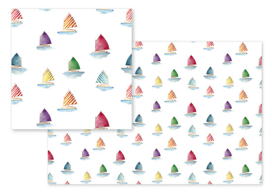 fabric - Rainbow Fleet by Brydon Holsey