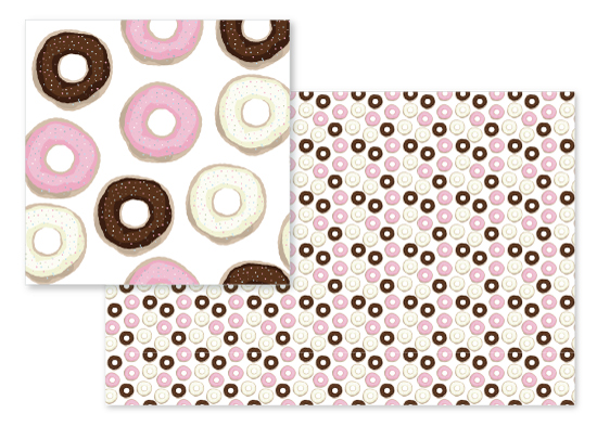 fabric - Donut Kill My Vibe by Claire Womack