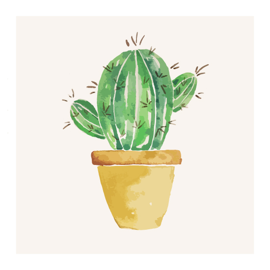 art prints - Little Cactus 1 by Korry Brown