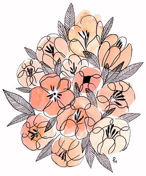 Inky Pink Floral