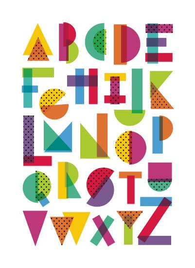art prints - Rad Alphabet by Amy Payne