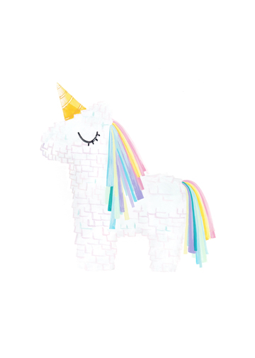 art prints - Unicorn Pinata by Riley Choi