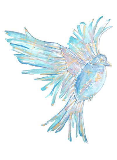 art prints - Birdy Blue by Maggie Puzey